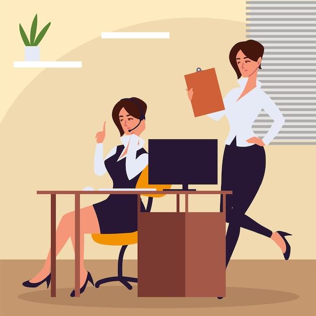 Osobista asystentka kobiet w biurze