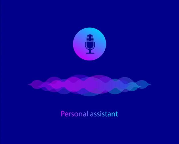 Osobisty asystent i rozpoznawanie głosu fale dźwiękowe