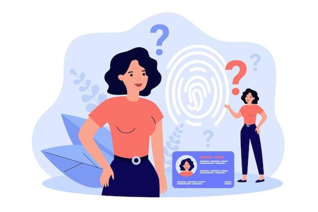 Osobisty identyfikator i ilustracja biometrycznej kontroli dostępu
