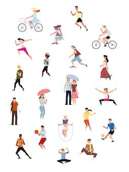 Osoby aktywne fizycznie uprawiające sport lub rekreację na świeżym powietrzu