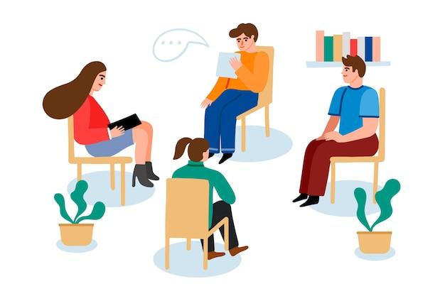 Osoby chodzące na terapię grupową