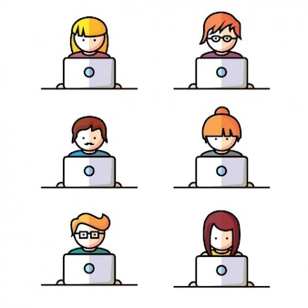 Osoby korzystające z laptopów