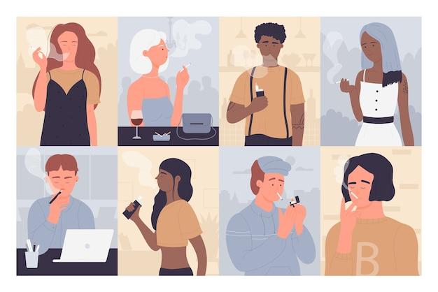 Osoby palące klasyczne elektroniczne papierosy