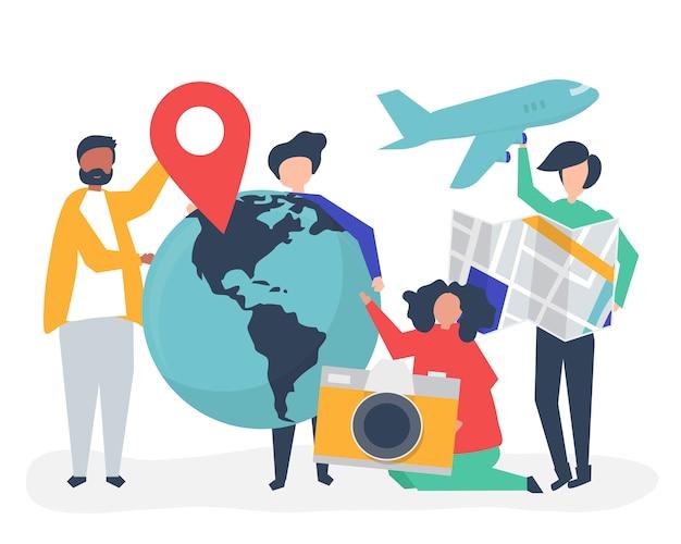 Osoby posiadające ikony związane z podróżą