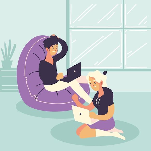 Osoby pracujące jako freelancer