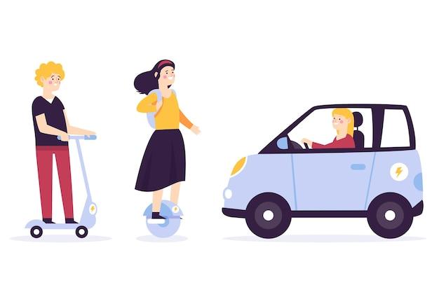 Osoby prowadzące elektryczny pakiet transportowy