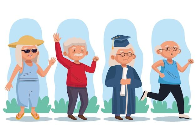 Osoby starsze grupują postacie aktywnych seniorów
