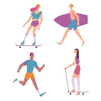 Osoby uprawiające sporty letnie