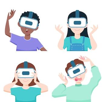 Osoby używające okularów vr