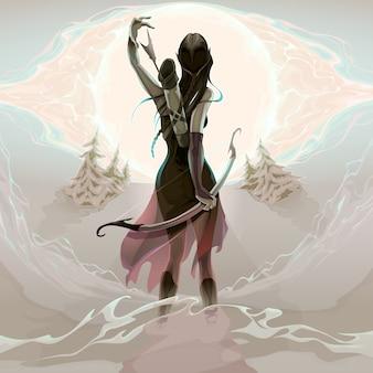 Ostatnią szansą elf jest pobieranie ilustrację strzałka wektora brak przejrzystości jest używany