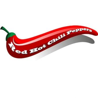 Ostre czerwone papryki chili ilustracji wektorowych