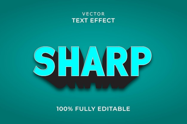 Ostry efekt tekstowy