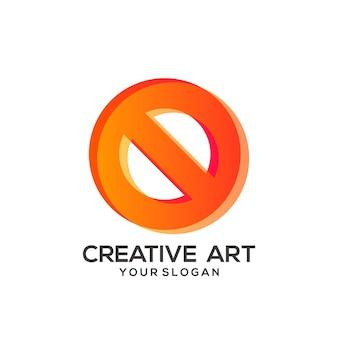 Ostrzegawczy kolorowy gradient logo