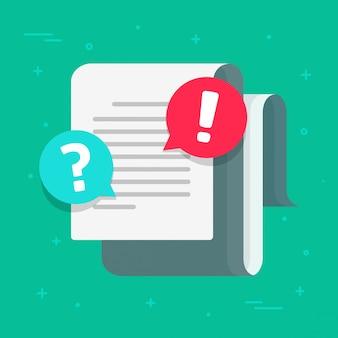 Ostrzeżenie dotyczące dokumentu z powiadomieniem o błędzie i powiadomieniem o błędzie