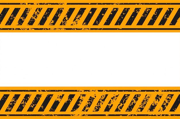 Ostrzeżenie w stylu żółte i czarne paski tle