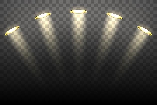 Oświetlenie punktowe na przezroczystym tle