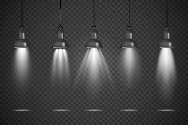 Oświetlenie punktowe przezroczyste tło studio