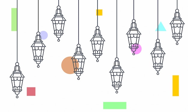 Oświetlenie wiszące lampy
