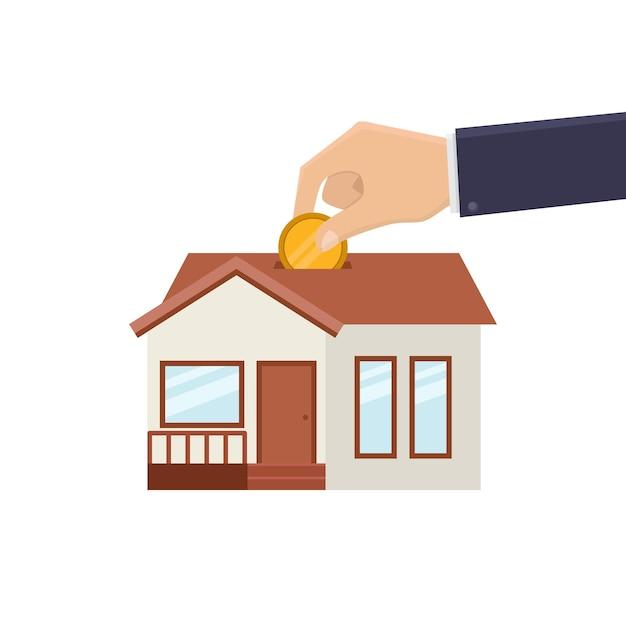 Oszczędność na zakup ilustracji projektu domu
