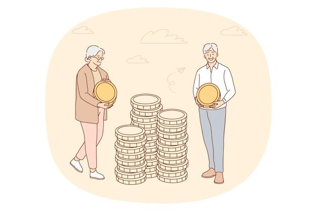 Oszczędność pieniędzy, finanse, koncepcja budżetu