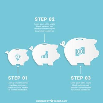 Oszczędności infographic