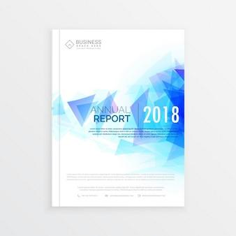 Oszczędny broszura szablon raport roczny projekt okładki magazynu z abstrakcyjnych kształtów niebieski