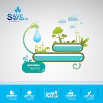 Oszczędzaj tło wody.