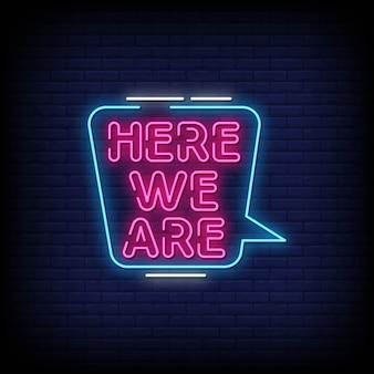 Oto tekst w stylu neonów