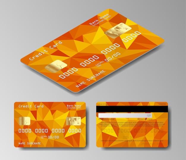 Oto współczesna biznesowa karta kredytowa. projekt szablonu luksusowej karty kredytowej.