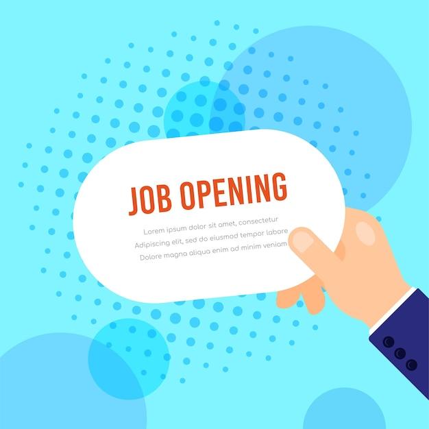Otwarcie pracy rekrutacji ilustracja koncepcja zasobów ludzkich