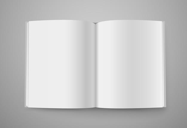 Otwarta książka. gotowy do treści