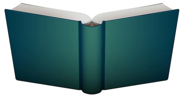 Otwarta książka na przedniej okładce