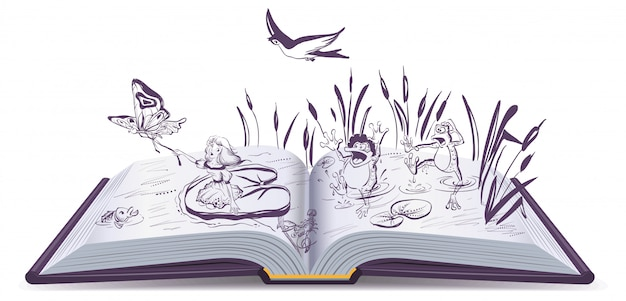 Otwarta opowieść książkowa calineczka
