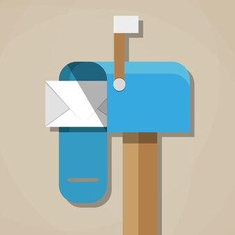 Otwarta skrzynka pocztowa ze zwykłą pocztą
