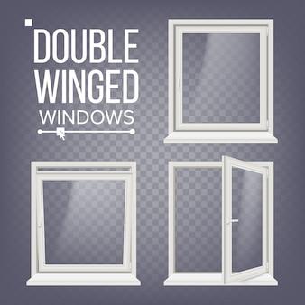 Otwarte i zamknięte plastikowe okno pcv