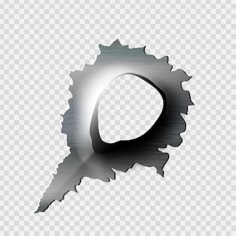 Otwór w metalu
