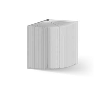 Otwórz białą księgę. ilustracja na białym tle. szablon makiety