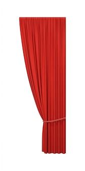 Otwórz czerwoną zasłonę z liną