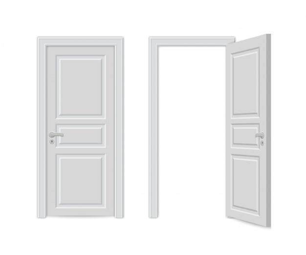 Otwórz i zamknij realistyczne drzwi