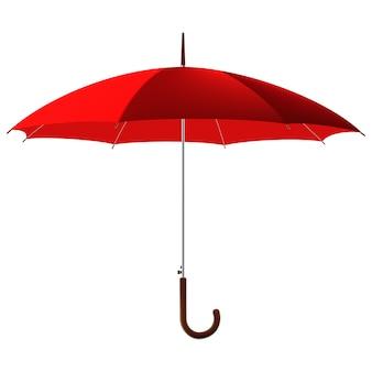 Otwórz klasyczny czerwony parasol