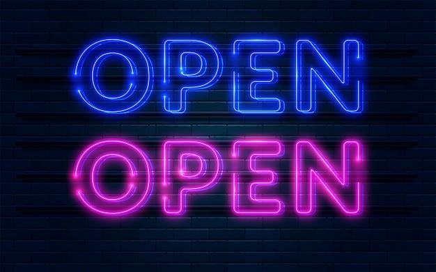 Otwórz neon