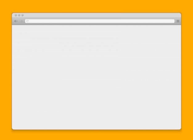 Otwórz okno przeglądarki internetowej puste tło.