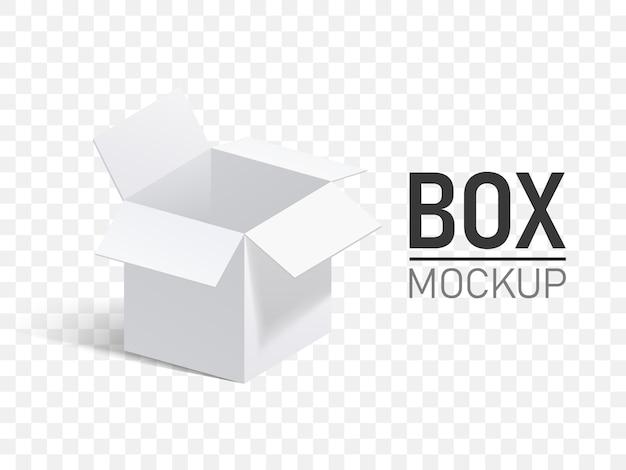 Otwórz pudełko na przezroczystym tle.