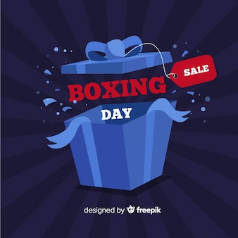 Otwórz pudełko tle dzień boksu