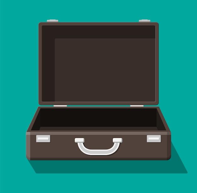 Otwórz starą walizkę do podróży.