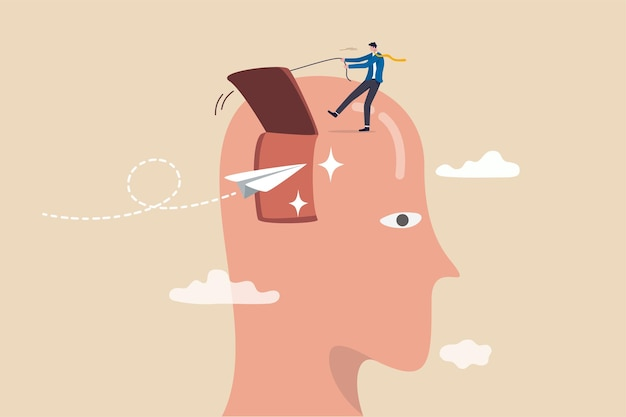 Otwórz umysł, aby otrzymać nową koncepcję wiadomości.