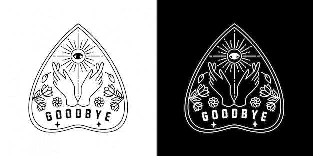 Ouija goodbye monoline design