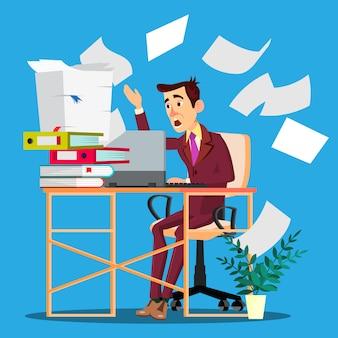 Overloaded manager concept. przeciążony biznesmen pracownika