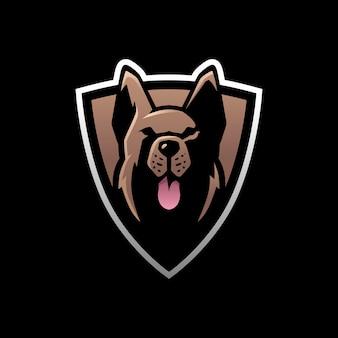 Owczarek niemiecki e sportowe logo