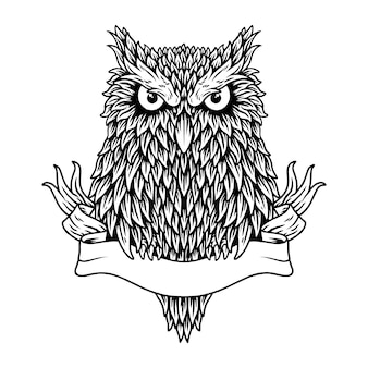 Owl concept black and white